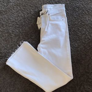 Zara mid-rise cropped jeans